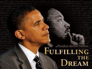 mlk & president obama